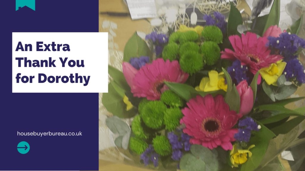 thank you dororthy - a bouquet of flowers
