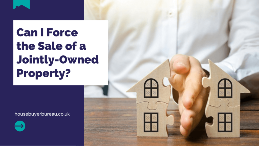 a house cut in half by a hand - blog post about forcing a sale of a jointly owned property