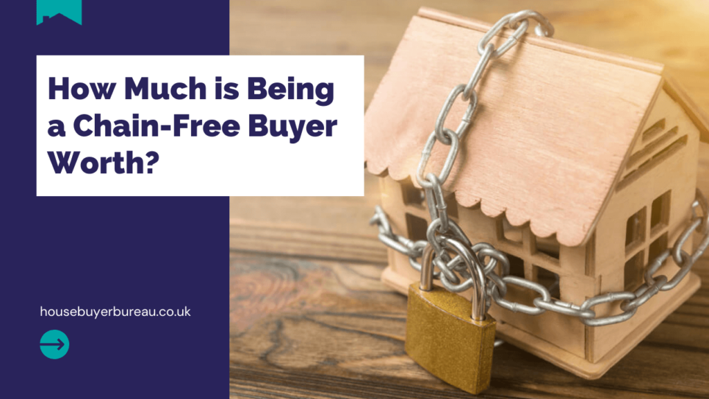 a house arapped in a chain and padlock - blog about being chain free when selling a house