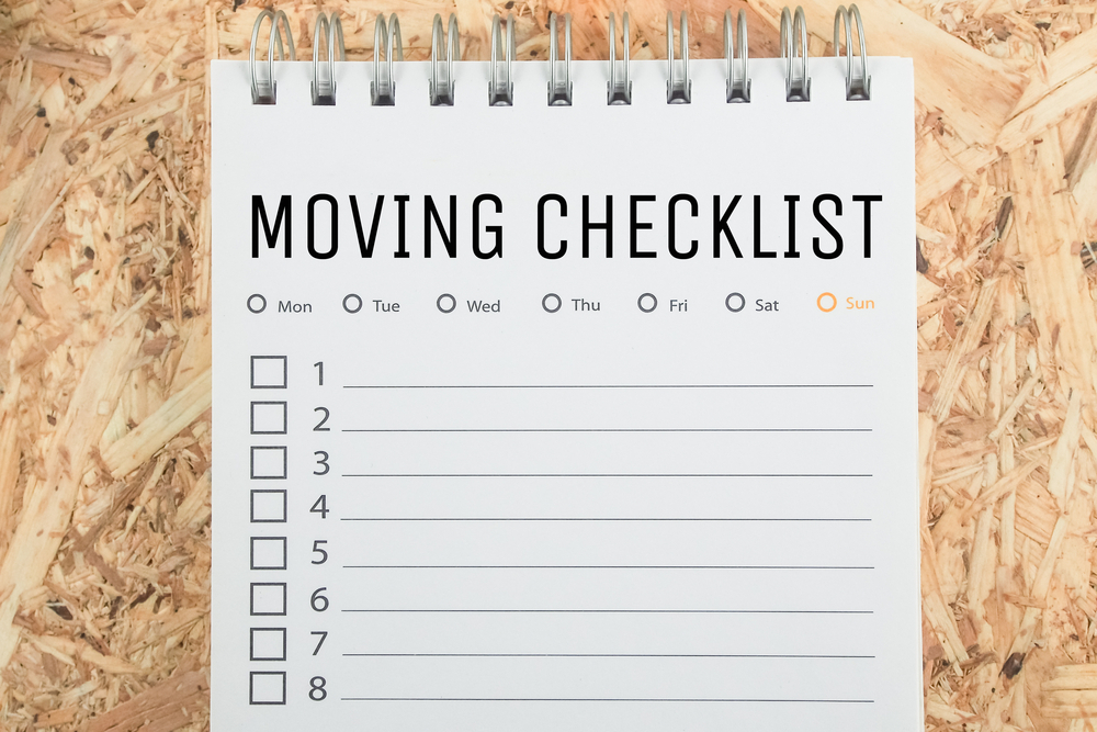 a moving house checklist